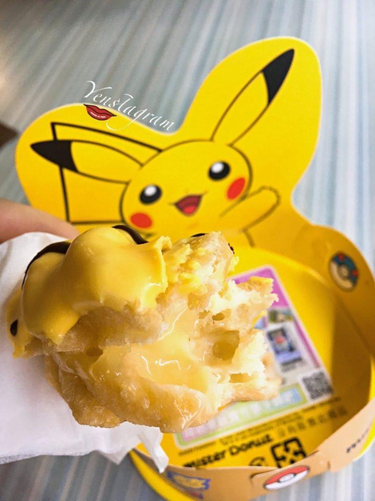Mister Donut甜甜圈台灣聯名限定款寶可夢泡泡先生口味開箱瑪芬波提皮卡丘尾巴
